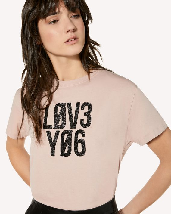 "REDValentino ""Love You""亮片印纹 T 恤"