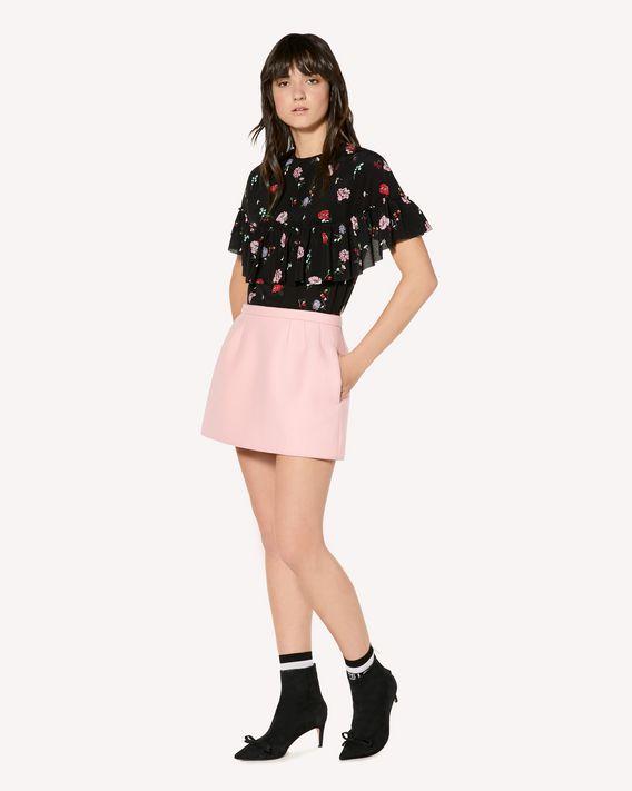 REDValentino Cherry Blossom 印纹真丝上衣