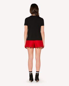 REDValentino 心形嵌花细点网眼薄纱 T 恤