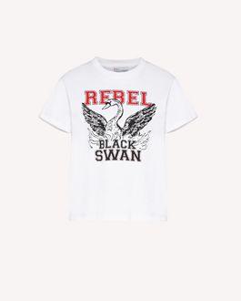 "REDValentino ""Rebel Black Swan""印纹 T 恤"