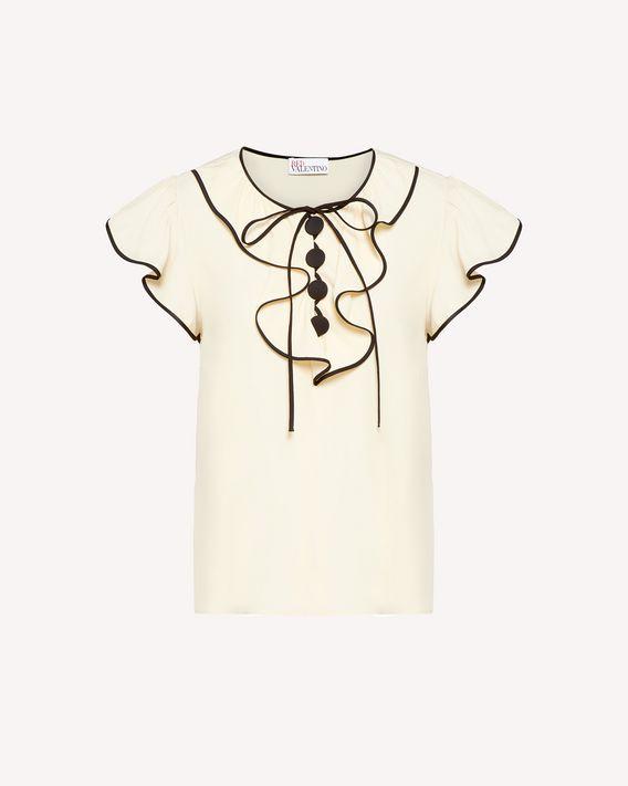 REDValentino 胸饰细节提花双绉上衣