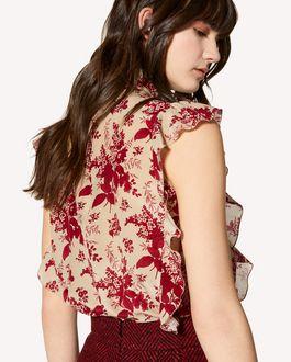 REDValentino Floral Tapestry 印纹真丝上衣
