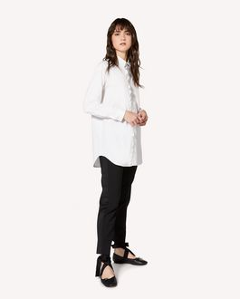 REDValentino 弹力棉质府绸阔型衬衫