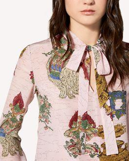 REDValentino 中国漆器印纹真丝上衣