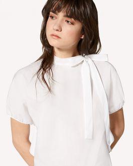 REDValentino 褶饰细节缎背绉绸上衣