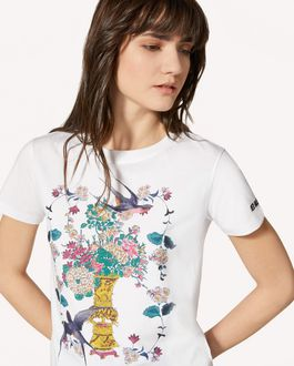 REDValentino 中国漆器印纹 T 恤
