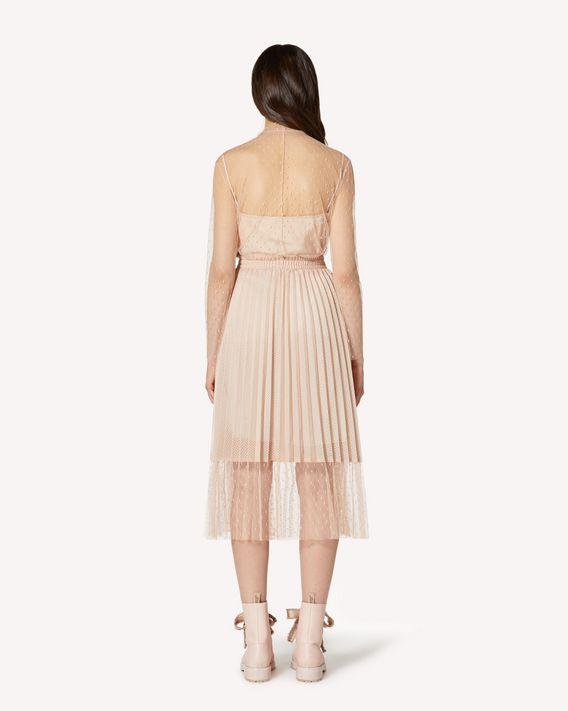 REDValentino 蕾丝饰带细点网眼薄纱上衣