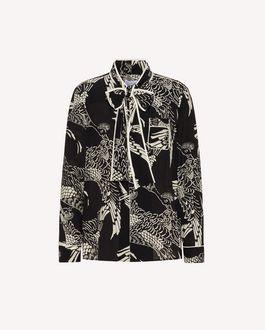 REDValentino 凤凰印纹真丝衬衫