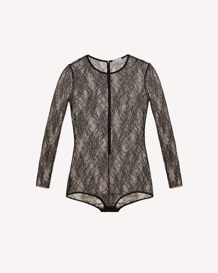 平纹针织蕾丝连体衣