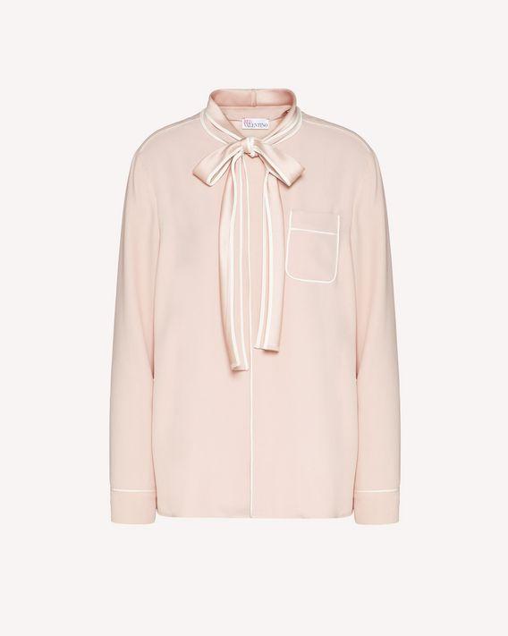 REDValentino 缎背绉绸衬衫