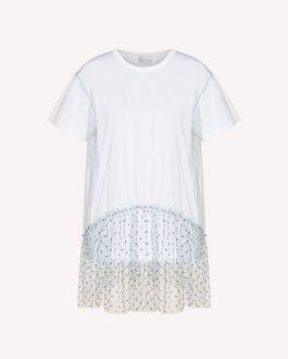 REDValentino 亮片细点网眼薄纱 T 恤