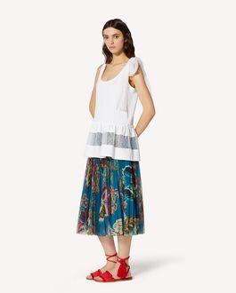 REDValentino 细点网眼薄纱、平纹针织上衣