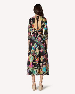REDValentino 森林天堂鸟印纹棉质府绸上衣