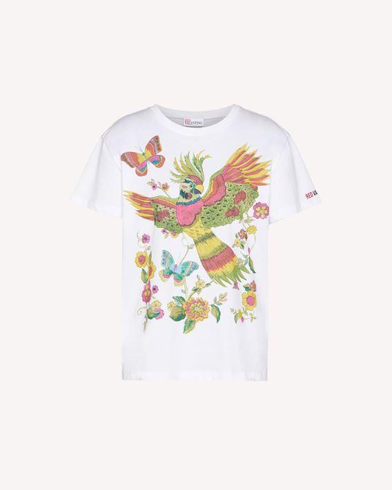 REDValentino 森林天堂鸟印纹 T 恤