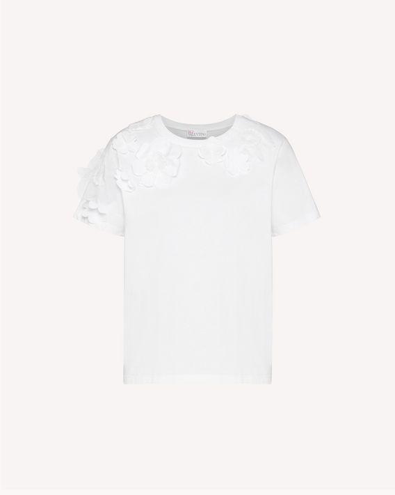 REDValentino 花卉拼饰 T 恤
