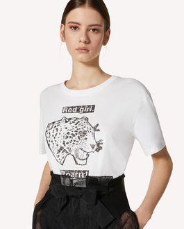 REDValentino Leo Panther 印纹 T 恤