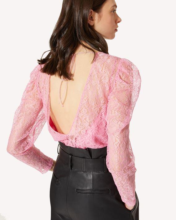REDValentino 花卉图案蕾丝上衣