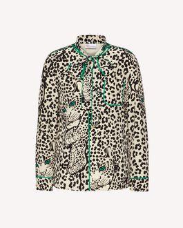 REDValentino Leo Panther 印纹真丝衬衫