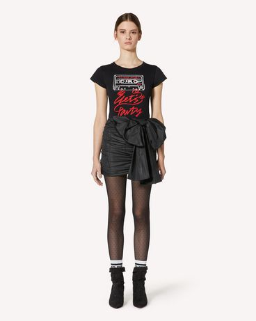 REDValentino UR3MG07J5AM 0NO T-SHIRT 女士 f