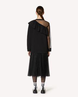 REDValentino 细点网眼薄纱装饰卫衣