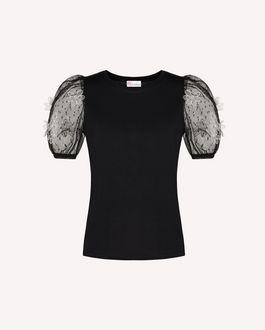 REDValentino 欧根纱花卉刺绣 T 恤