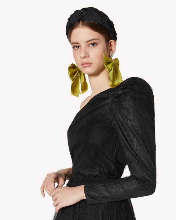 REDValentino 金银丝提花与细点网眼薄纱连身装
