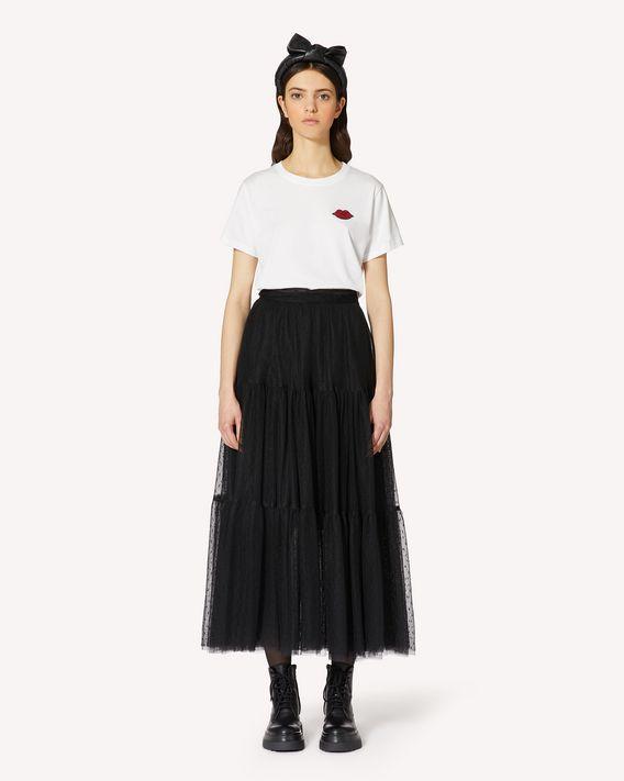REDValentino REDValentino 唇形拼饰 T 恤
