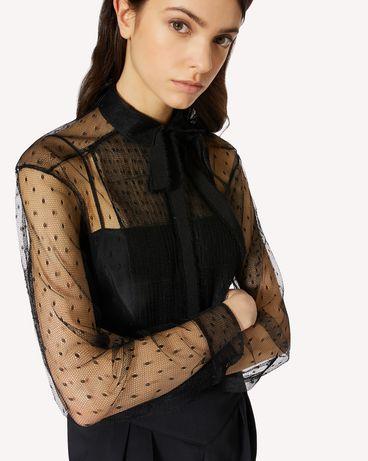 REDValentino 细点网眼薄纱塔士多衬衫