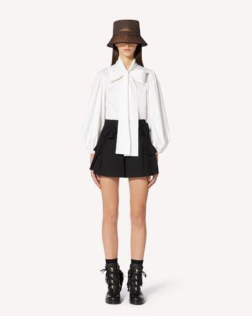 REDValentino 蝴蝶结细节棉质府绸衬衫