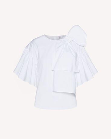 REDValentino 蝴蝶结细节棉质府绸上衣