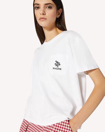 REDValentino 三叶草刺绣 T 恤