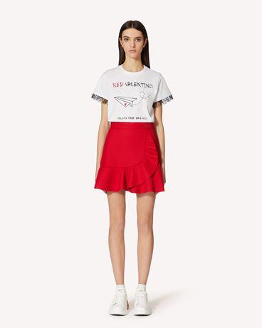 "REDValentino 专属胶囊系列 <br>- ""REDValentino Follow your Dreams""  印纹 T 恤"