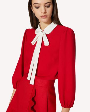 REDValentino 专属胶囊系列 <br>-  柔美垂顺衣领上衣