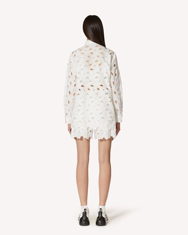 REDValentino  镂花刺绣棉质府绸半裙
