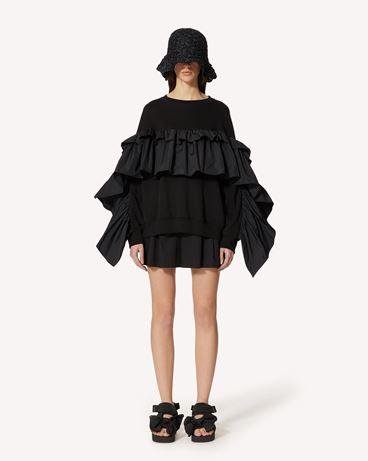 REDValentino The Black Tag 系列。  - 塔夫绸褶饰细节卫衣