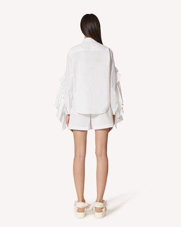 REDValentino The Black Tag 系列。  - 褶饰细节棉质府绸衬衫