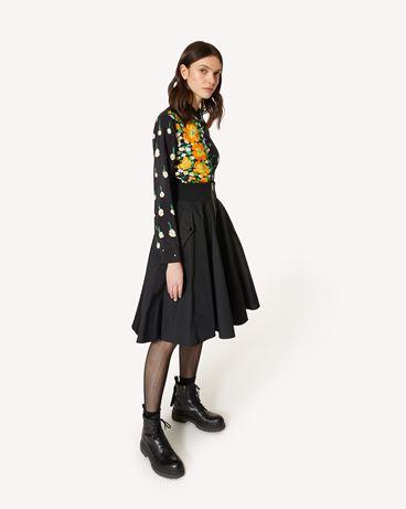 REDValentino Flower Explosion 印纹真丝半裙