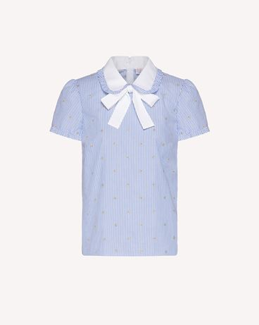 REDValentino 条纹棉质卢勒克斯星星上衣