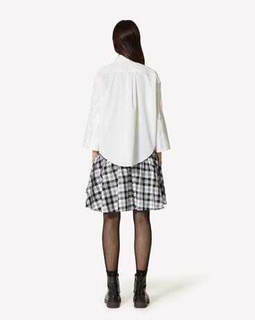 REDValentino The Black Tag。<br>- 棉质府绸条纹衬衫