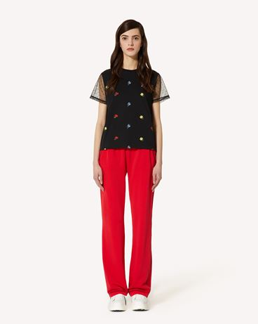 REDValentino Delicate Flowers 刺绣 T 恤