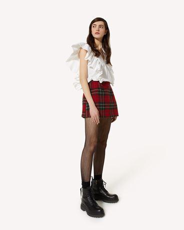 REDValentino 褶饰细节棉质府绸上衣