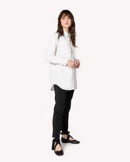 REDValentino 礼服细节羊毛粘胶混纺华达呢长裤