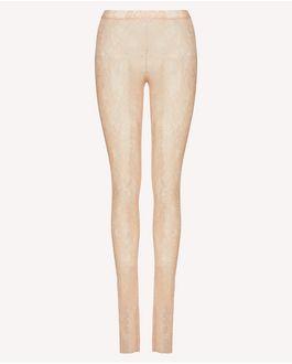 REDValentino 平纹针织蕾丝打底裤