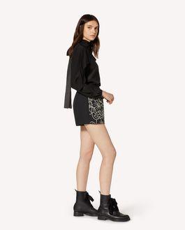 REDValentino 花卉刺绣棉质华达呢短裤