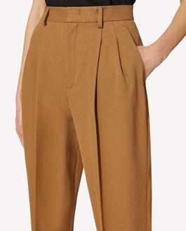REDValentino 褶裥棉毛混纺华达呢长裤