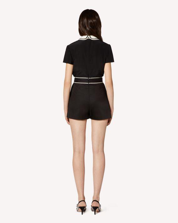 REDValentino 对比细节棉质卡迪短裤