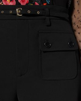 REDValentino 腰带款粘胶华达呢短裤