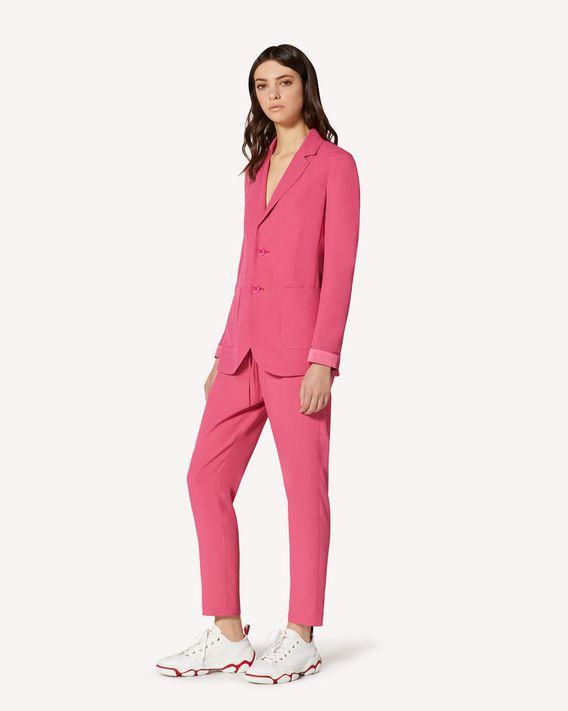 REDValentino 缎背绉绸长裤