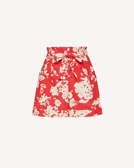Graphic Flora 印纹棉质帆布短裤