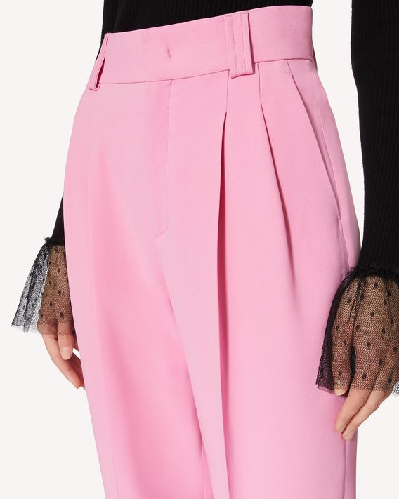 REDValentino 缝褶细节弹力 Frisottine 长裤